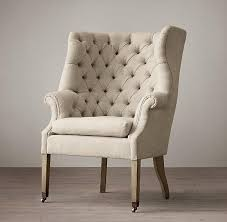 Beige Wingback Chair Century Beige English Wing Chair