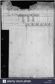 arch of septimius severus ornamental cornice and pilaster recto