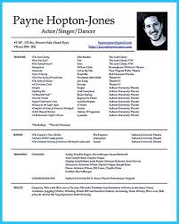 Film Resume Example by Film Resume Example Formats Csat Co