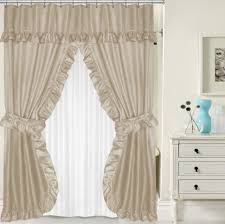 Double Shower Curtains With Valance Coffee Tables Double Swag Shower Curtain Attached Valance Luxury