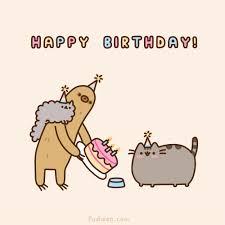 Cute Birthday Meme - jessica k罠pei mindenr蜻l pusheen pusheen cat pinterest