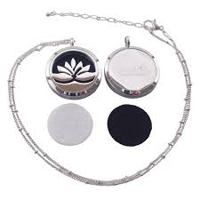 round locket necklace images Oil diffuser necklace stainless steel aromatherapy locket pendant jpg