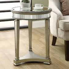 monarch specialties accent table shop monarch specialties mirror round end table at lowes com