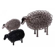 turrnell farm stainless steel sheep sculpture interior