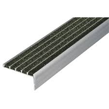 Abrasive Stair Nosing by Wooster Products Stair Nosing Black 48in W Extruded Alum 20x821