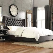 Bedroom Furniture Naples Fl Naples Bedroom Furniture Inspire Q Gray Linen Button Tufted