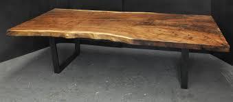 Walnut Slab Table by Claro Walnut Slab Dining Table Dorset Custom Furniture Dan Mosheim