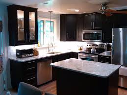 kitchen stainless steel countertops black cabinets craftsman
