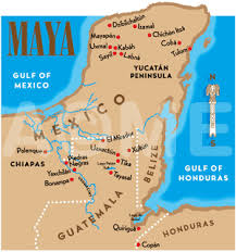 mayan empire map ancient recent history