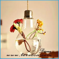 Flower Vase Decoration Home 80 125mm Oval Shape Hanging Glass Terrarium Vase For Diy
