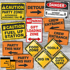 Construction Party Centerpieces by Construction Party Signs Construction Birthday Construction