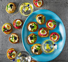 canapé cocktail cocktail blinis recipe food