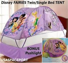 bed tent with light kids disney fairies tinkerbell bed tent push night light set twin