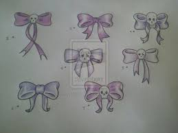 bow skull lady bugs tattoo design tattoo ideas skull with bow