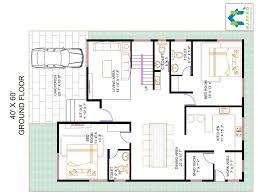 4 bhk floor plan for 40 x 60 plot 2400 square feet 267