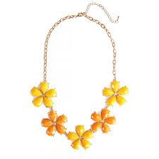 orange statement necklace images Good morning neon pink petal half flower stone bib statement necklace jpg