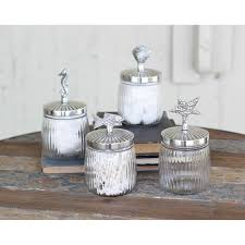 themed kitchen canisters coastal glass canister set