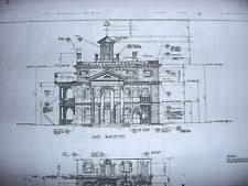 mansion blue prints blueprint ebay