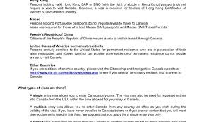 letter visa canada