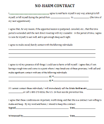 no harm contract for therapy practice worksheets for therapy