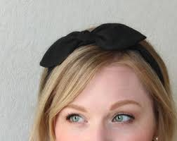 fabric headband black bow headband hair accessories womens headband black headband