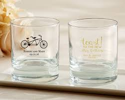 personalized glasses wedding personalized rocks glass wedding my wedding favors