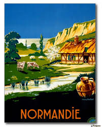 travel posters images France normandy vintage travel poster vintage poster canvas jpg