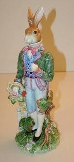 fitz and floyd rabbit figurine 11 1 4 rabbit babies figurines