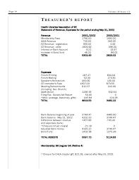 treasurer s report agm template hlabc forum december 2002