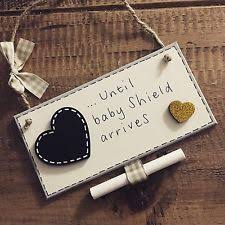 baby plaques wooden heart baby personalised decorative plaques signs ebay