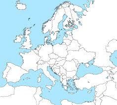 blank map of europe including black white and coloring page in map
