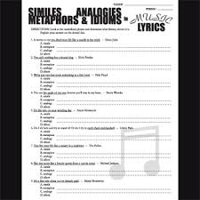 poetry in music lyrics metaphors similes analogies u0026 idioms