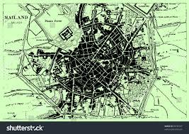Milan Italy Map Vector Historical Map Milan Italy Atlas Stock Vector 76725187
