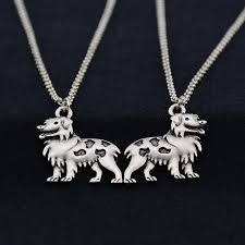 australian shepherd necklace colar 3 partes chinese goods catalog chinaprices net
