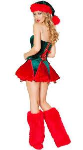 green off shoulder womens christmas santa costumes zaydle
