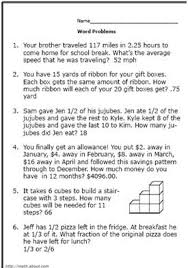 math problem solving questions grade 4 realistic math problems to help 6th graders solve real