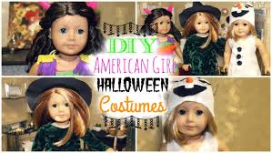 homemade halloween costume ideas girls 3 easy diy halloween costumes for american dolls youtube