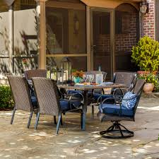 Outdoor Furniture At Sears by La Z Boy Outdoor Kinsley 7 Pc Dining Set Denim Limited