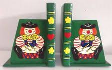 clowns u0026 circus home décor bookends ebay