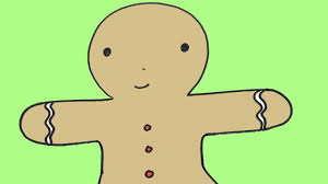 how to draw a gingerbread man cookie for christmas easy drawing