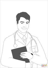 man doctor coloring free printable coloring pages