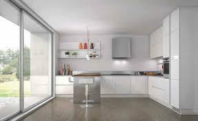 cuisine blanc laqué plan travail bois cuisine blanche plan de travail bois cuisine blanche plan de