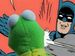 Meme Generator Batman Slap - batman slapping kermit blank template imgflip