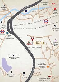 Greater Noida Metro Map by West Metro Grande In Kalyan East Mumbai Price Location Map