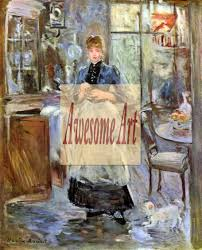 Morisot In Dining Room - Berthe morisot in the dining room