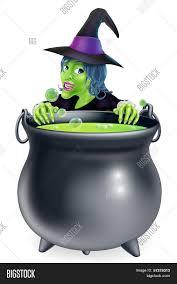 witch cauldron cartoon vector u0026 photo bigstock