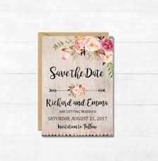 rustic save the date cards boho floral save the date card printable floral boho save the