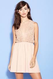 fit and flare dress forever 21 forever 21 sequin fit flare dress in pink lyst