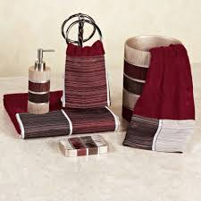 Bath Towels And Rugs Modern Line Burgundy Bath Towel Set