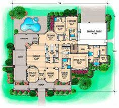 monsterhouse plans luxury style house plans 5907 square foot home 2 story 5